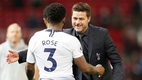HLV Mauricio Pochettino hạnh phúc khi Tottenham tiếp tục sắm vai kẻ thách thức. Ảnh: Getty Images