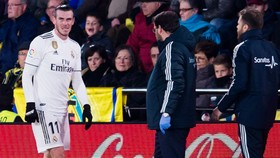Chấn thương của Gareth Bale và kết quả hòa là một dự báo chẳng tốt đẹp đối với Real trong năm mới. Ảnh: Getty Images