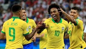 Chủ nhà Brazil cho thấy đã bắt đầu vào guồng chiến thắng. Ảnh: Getty Images