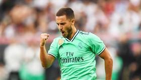 Eden Hazard đã có thể ăn mừng bàn thắng đầu tiên cùng Real. Ảnh: Getty Images