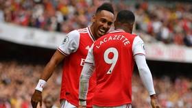 Pierre-Emerick Aubameyang tiếp tục xuất sắc định đoạt trận đấu. Ảnh: Getty Images