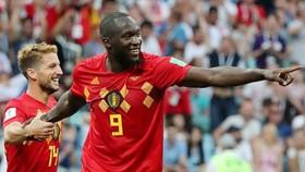 Romelu Lukaku luôn xuất sắc khi hạnh phúc chơi bóng cùng tuyển Bỉ. Ảnh: Getty Images