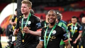 Raheem Sterling và đồng đội ở Man.City vẫn đang tập trung tranh đoạt danh hiệu. Ảnh: Getty Images