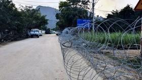 Đường dẫn vào xã Đồng Tâm và khu vực sân bay Miếu Môn, tháng 1-2020