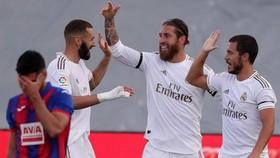 Real Madrid đã dễ dàng giành chiến thắng trong trận đấu đầu tiên sau Covid-19. Ảnh: Getty Images