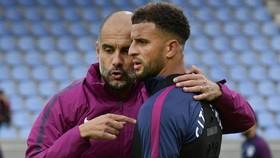 Kyle Walker đã được đảm bảo tương lai tại Man.City sau khi đối thoại với HLV Pep Guardiola. Ảnh: Getty Images