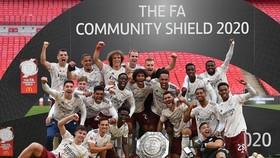 Arsenal giành danh hiệu khai mùa Community Shield khi thắng Liverpool. Ảnh: Getty Images