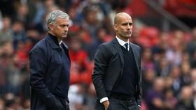 Pep Guardiola không muốn tiếp tục những màn khẩu chiến với Jose Mourinho. Ảnh: Getty Images