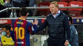 HLV Ronald Koeman hiện vẫn chưa nhận được những gì tốt nhất từ Messi. Ảnh: Getty Images