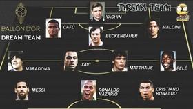 Đội hình được cho là hay nhất lịch sử bóng đá.