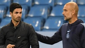 Mikel Arteta và Pep Guardiola gặp lại nhau trên cương vị HLV. Ảnh: Getty Images