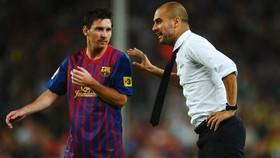 Lionel Messi và Pep Guardiola khi còn làm việc cùng tại Barca.