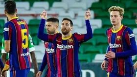 Lionel Messi tìm lại cảm hứng ghi bàn là tin vui với Barca. Ảnh: Getty Images