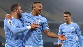 Gabriel Jesus tỏa sáng giúp Man.City thắng thuyết phục. Ảnh: Getty Images