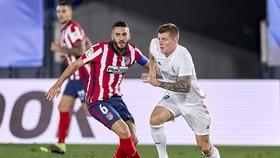 Real Madrid liệu sẽ tiếp tục thể hiện bản lĩnh trước hàng xóm Atletico? Ảnh: Getty Images