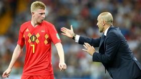 """Trở về đội tuyển, Kevin De Bruyne vẫn """"nặng lòng"""" với Man.City. Ảnh: Getty Images"""