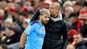 Nếu không chấn thương, Sergio Aguero luôn là sự lựa chọn số 1 của HLV Pep Guardiola. Ảnh: Getty Images
