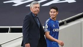 James Rodriguez gia nhập Everton chỉ để được tái hợp với HLV Carlo Ancelotti. Ảnh: Getty Images