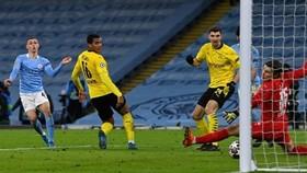 Phil Foden ghi bàn thắng muộn giúp Man.City giành chiến thắng nhọc nhằn. Ảnh: Getty Images
