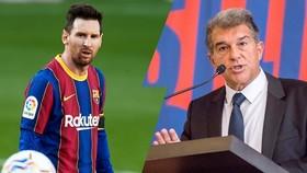 Ngay chính Chủ tịch Joan Laporta cũng chưa thể đảm bảo tương lai của Lionel Messi.