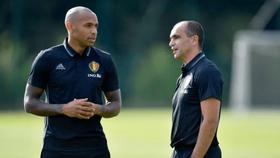 Thierry Henry trở lại tuyển Bỉ trợ giúp HLV Roberto Martinez. Ảnh: Getty Images