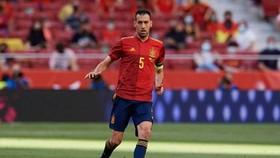 Sergio Busquets thi đấu trong trận giao hữu hòa Bồ Đào Nha. Ảnh: Getty Images
