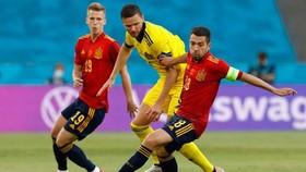 Tây Ban Nha đã tạo ra thế trận vượt trội hoàn toàn so với Thụy Điển. Ảnh: Getty Images