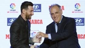 Javier Tebas tin rằng La Liga vẫn hùng mạnh dù mất Lionel Messi.
