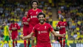 Mohamed Salah đi vào lịch sử khi ghi bàn trong 5 trận mở màn mùa giải mới. Ảnh: Getty Images
