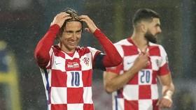 Luka Modric không có niềm vui trọn vẹn vì Croatia bị cầm hòa.