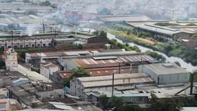 Một số cơ sở sản xuất tại phường Đông Hưng Thuận, quận 12             Ảnh: THÀNH TRÍ