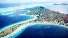 Vùng biển Tahiti thuộc quần đảo Polynesia, nơi đang đứng trước nguy cơ bị nước biển nhấn chìm