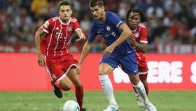 Alvaro Morata trong ngày ra mắt Chelsea