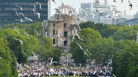 Những cánh chim hòa bình trong lễ tưởng niệm 71 năm thảm họa hạt nhân Hiroshima, Nhật Bản. Ảnh: REUTERS