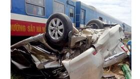 Hiện trường vụ tai nạn giao thông đường sát