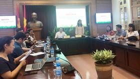 Thứ trưởng Bộ VHTT&DL Trịnh Thị Thủy phát biểu tại họp báo. Ảnh: VGP