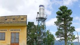 Công trình giếng khoan ở thôn Đông Hồ, xã Proh, huyện Đơn Dương bị bỏ hoang ngay sau khi hoàn thành