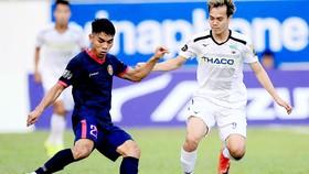 Tuấn Anh (phải) và HA.GL đang chơi khá chật vật ở V-League 2019.          Ảnh: MINH TRẦN