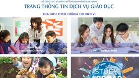 TPHCM ra mắt Trang thông tin dịch vụ giáo dục