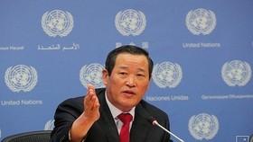 Đại sứ Triều Tiên tại Liên Hợp Quốc Kim Song. Nguồn: YONHAP