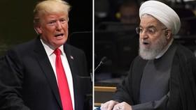 Tổng thống Mỹ Donald Trump và người đồng cấp Iran Hassan Rouhani. Ảnh: Aljazeera