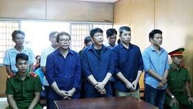 Các bị cáo trong một phiên tòa