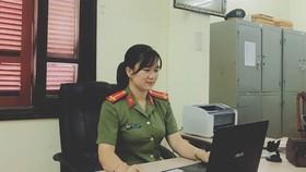 thí sinh Nguyễn Hà Linh (Công an TP Hà Tĩnh, tỉnh Hà Tĩnh) xuất sắc giành giải nhất chung cuộc. Ảnh: BHT