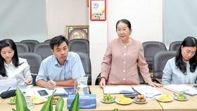 Phó Bí thư Thành ủy TPHCM Võ Thị Dung phát biểu tại buổi giám sát