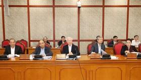 Tổng Bí thư, Chủ tịch nước Nguyễn Phú Trọng phát biểu chỉ đạo buổi làm việc  với Ban Thường vụ Tỉnh ủy Thừa Thiên - Huế.  Ảnh: TTXVN