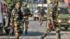 Lực lượng an ninh Ấn Độ tại bang Jammu và Kashmir. Ảnh: DNA INDIA