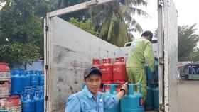 Giá gas giảm 17.000 đồng/bình 12kg