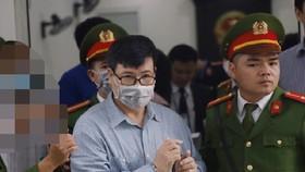 Bị cáo Trương Duy Nhất tại phiên tòa sáng nay. Nguồn: VOV