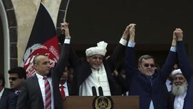 Tổng thống Ashraf Ghani trong lễ tuyên thệ nhậm chức. Ảnh: AP