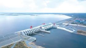 Đập thủy điện Sesan 2 của Campuchia. Ảnh: Nikkei Asia Review